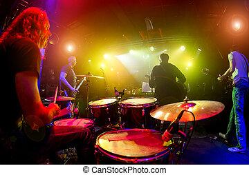 musiker, spielen, bühne