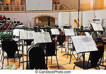 musikinstrumente_, und, musiknote