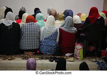 Musim female woman praying for Allah - Photo of the Musim...