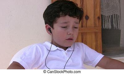 musique écouter, enfant