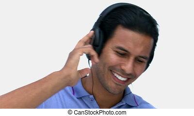 musique écouter, homme