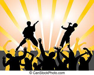 musique, -, événement