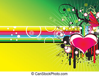 musique, amour, fond