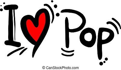 musique, amour, pop