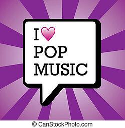 musique, amour, pop, illustration, fond