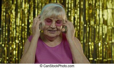 musique, avoir, vieux, délassant, personne agee, apprécier, ...