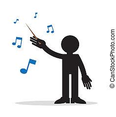 musique, conducteur