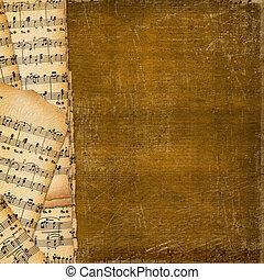 musique, couverture, livre, fond, résumé