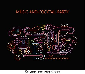 musique, et, partie cocktail