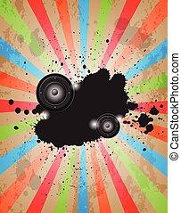 musique, fête, événement, club, poster., flayer, ou