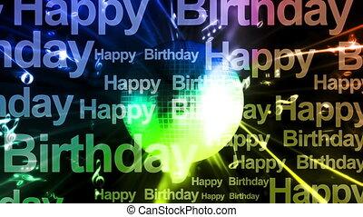 musique, fête, anniversaire, fond