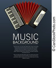 musique, fond, accordéon