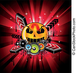musique, fond, arc-en-ciel, disco, halloween