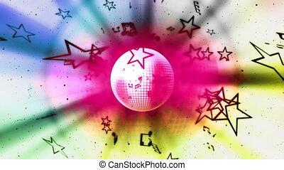 musique, fond, boucle, multicolore