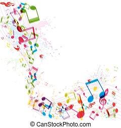 musique, fond, vecteur, résumé