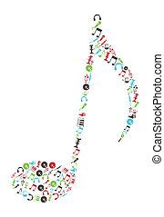 musique, icônes