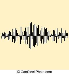 musique, illustartion., vecteur, included, 10, fond, fichier, eps, ondes sonores