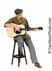 musique, interprète, guitare