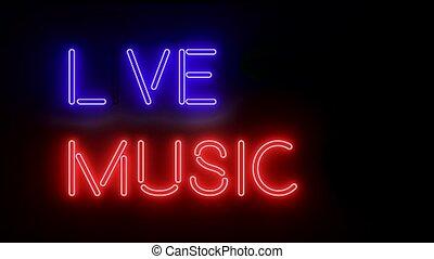musique, lumières, incandescent, texte, logo, signe, multicolore, néon, vivant
