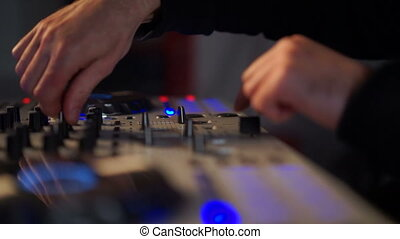 musique mélangeant, sien, dj, pont