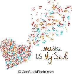 musique, mon, âme, fond