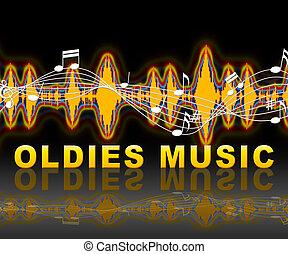 musique, moyens, vieillards, classique, airs, passé