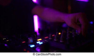 musique, nightcub, mâle, dj, jouer