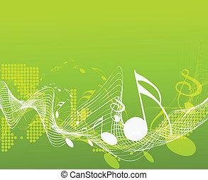 musique note, conception