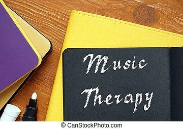musique, paper., signification, thérapie, locution, concept, motivation, morceau