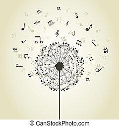 musique, pissenlit