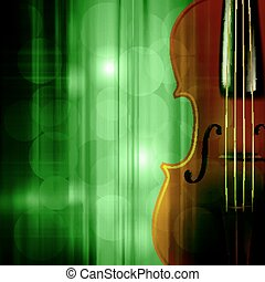 musique, résumé, grunge, fond, violon