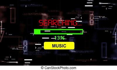 musique, recherche, ligne