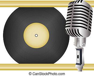 musique, retro, fond