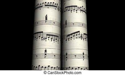 musique, rouleau