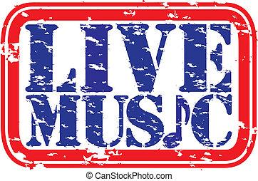 musique, rue, vivant, grunge, caoutchouc