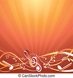musique, toile de fond