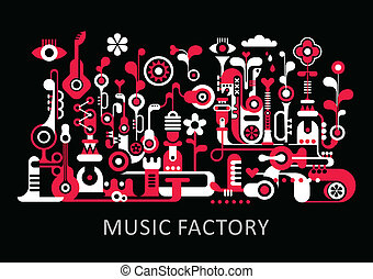 musique, usine