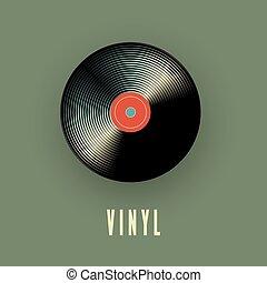 musique, vecteur, record., vinyle, illustration