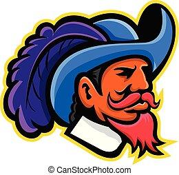 musketeer-head-side-mascot
