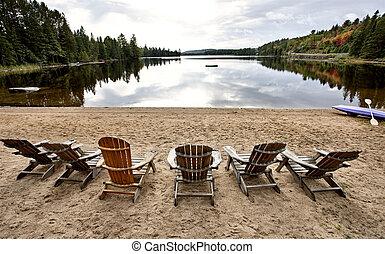 muskoka, ontario, desierto, parque, lago, algonquin