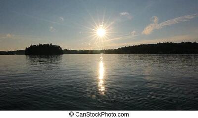 Muskoka summer lake.