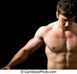 muskulös, man
