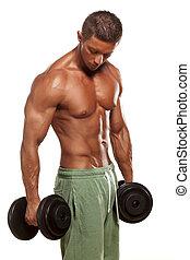 muskulös, mann