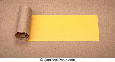 muskulös, papier, mit, raum, für, text