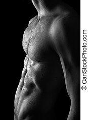 muskulös, textilfreie , mann
