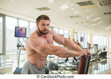 muskularny, man.