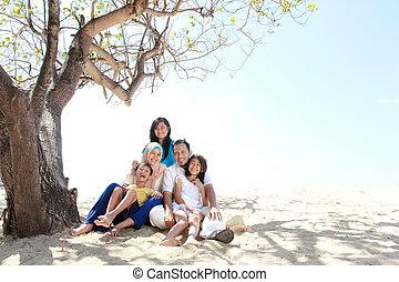 muslim, 家族, 幸せ