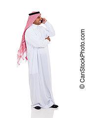 muslim, 男話し, 上に, 携帯電話