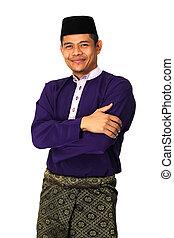 muslim, baju, マライ人, 伝統的な衣装, アジアの男性, melayu
