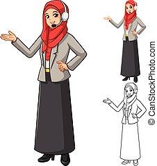 Muslim Businesswoman Operator